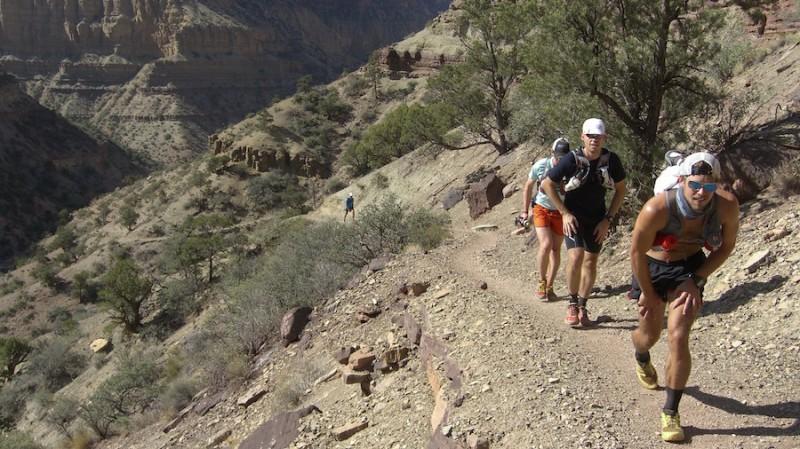 Runners uphill